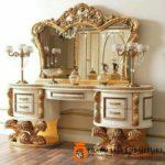 Meja Rias Ukir Italian Klasik Gold