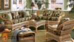 Set Sofa Tamu Rotan Klasik Mewah